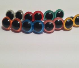 Sicherheitsaugen 9 mm (färbig)