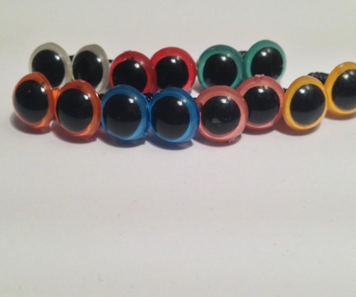 Sicherheitsaugen färbig 22 mm