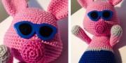 Häkelschwein aus Wolle