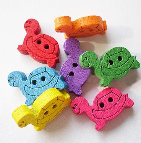 Knopf Schildkröte