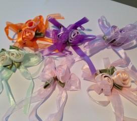 Schleife mit 2 Blüten